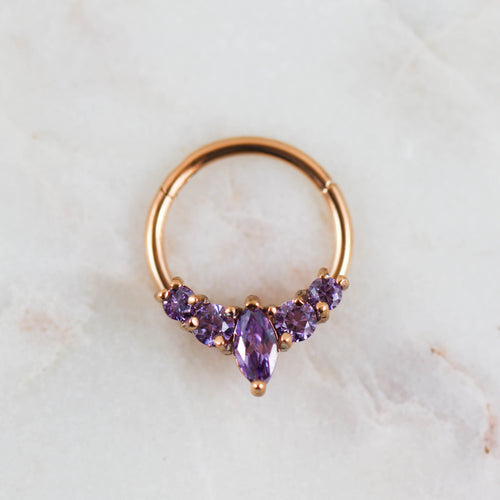 Purple Marquise Hinged Seam Ring