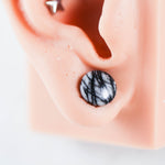 Black Net Jasper Plugs Jasper Plugs Organic Plugs Stone Plugs for gauges for stretched lobes for stretched ears