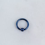 metallic fixed bead ring for cartilage helix tragus piercings piercing jewelry