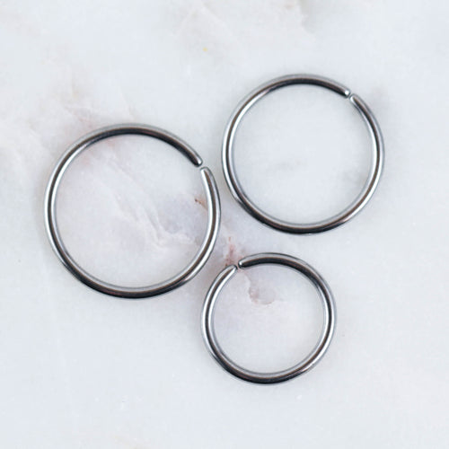 Plain SIlver Seamless Hoop conch piercing jewelry conch ring conch hoop piercing jewelry nipple ring hoop nipple jewelry