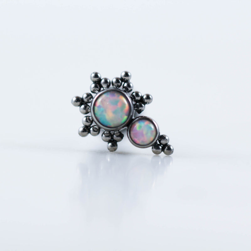 IMplant Grade Titanium Opal Labret Conch Piercing Jewelry Helix Earring Cartilage Stud OPal Cartilage Jewelry Titanium Labret Piercing Jewelry Body Jewelry