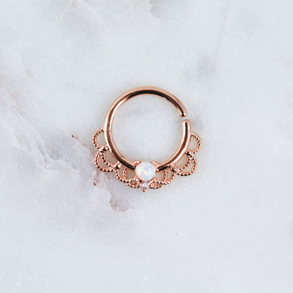septum ring septum piercing jewelry helix cartilage ring cartilage helix piercing jewelry lobe earring Opal Piercing Jewelry