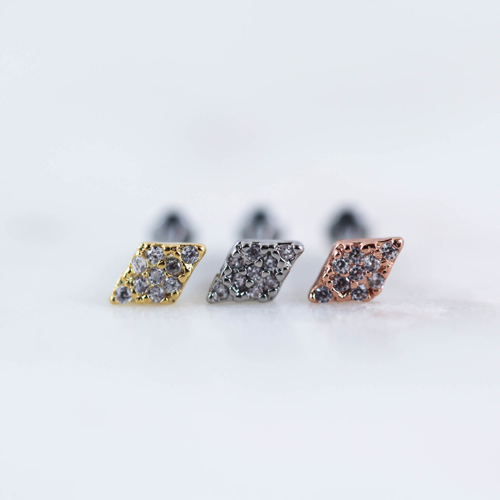 Diamond Labret Cartilage Piercing Jewelry Tragus PIercing Jewelry Helix PIercing jewelry Cartilage Stud Tragus Stud Earrings