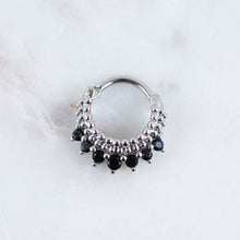 Freida Clicker Black Crystal Septum Clicker Septum Ring Septum Piercing Jewelry Daith Piercing jewelry Daith Jewelry Daith Ring Daith hoop Cartilage Hoop Piercing Jewelry