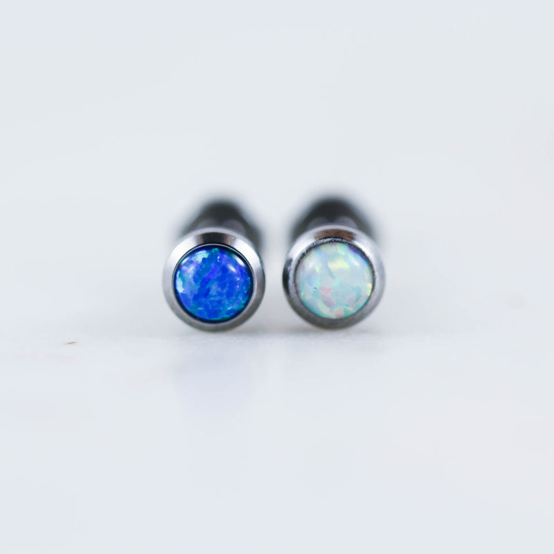 14 Gauge Opal Labret Opal Lip Piercing Bar Opal Lip Bar Opal Tragus PIercing Jewelry Opal Conch Piercing jewelry Opal Conch Bar Opal Cartilage Stud Opal Stud Opal Earring