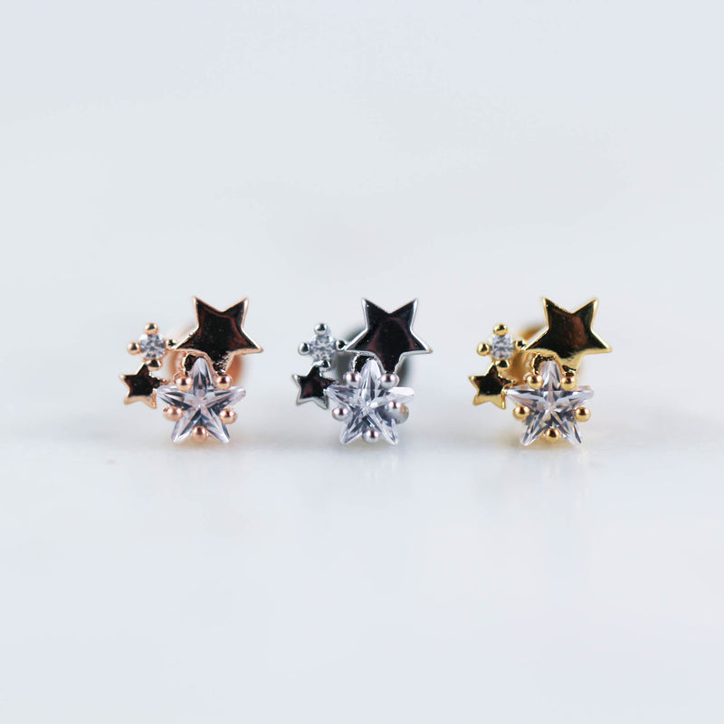 Tragus Piercing Stud Star Cartilage Piercing Stud Star Helix Piercing Jewelry Star Helix Jewelry Star Piercing Jewelry