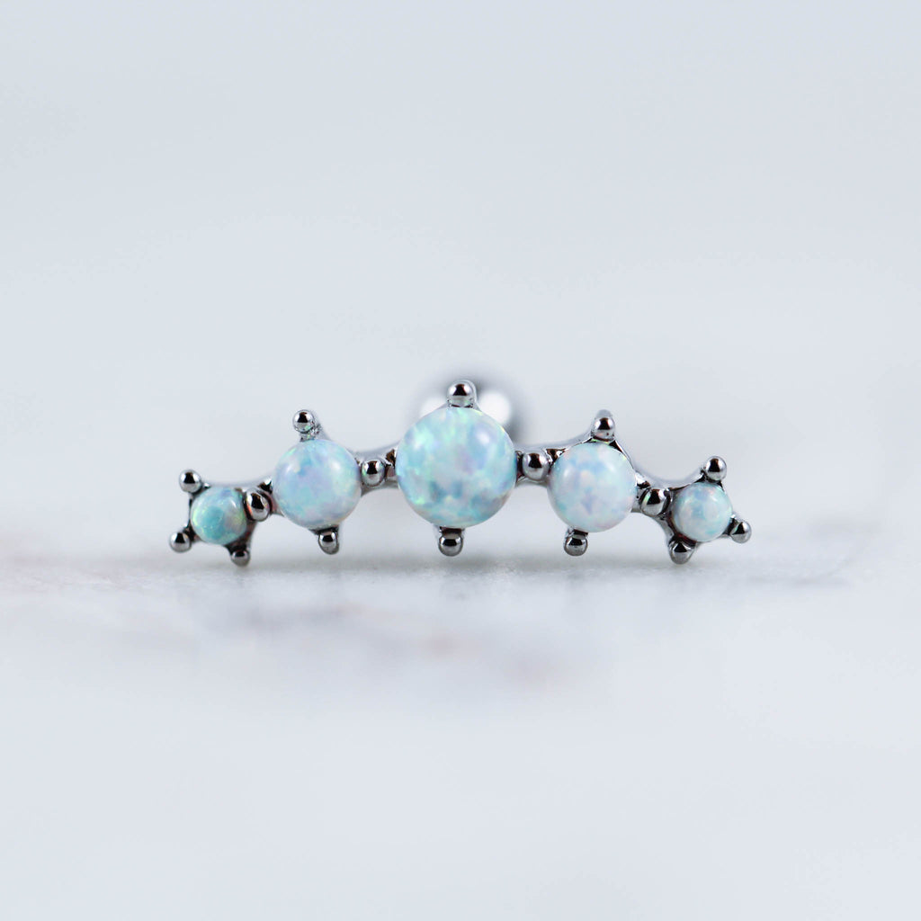Prong Set Opal Curve Barbell