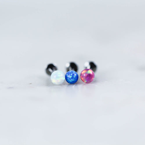 Opal Labret Piercing jewelry Opal Ball Lip Ring Opal Tragus Stud Opal Cartilage Earring Opal Earring OPal Stud Piercing Body Jewelry