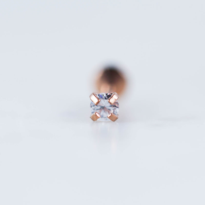 Rose Gold Gold Black Round Crystal Labret Piercing Jewelry Body Jewelry Tragus Stud Cartilage Stud Ear Piercing jewelry Earring Stud Crystal Piercing jewelry Ear PIErcing Bar TRagus Jewelry Conch Piercing Stud