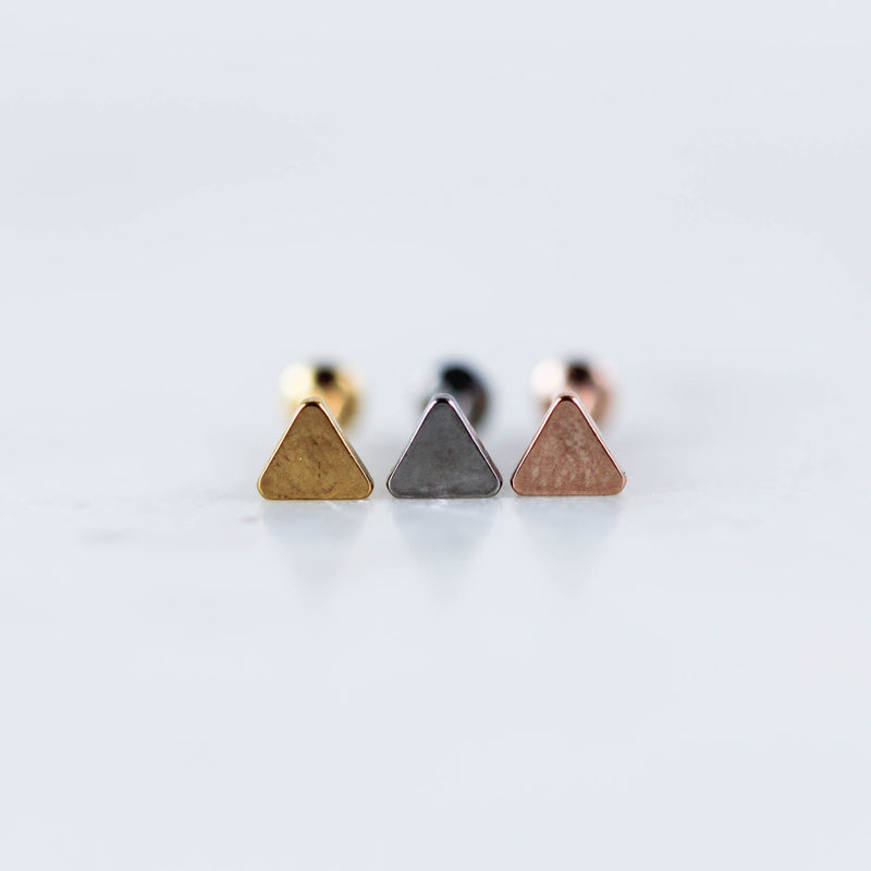 Triangle Labret Piercing Jewelry Body Jewelry Triangle Tragus Jewelry Tragus Stud Triangle Lip Ring Lip Stud Triangle Earring Triangle Helix Piercing Jewelry Triangle Cartilage Stud