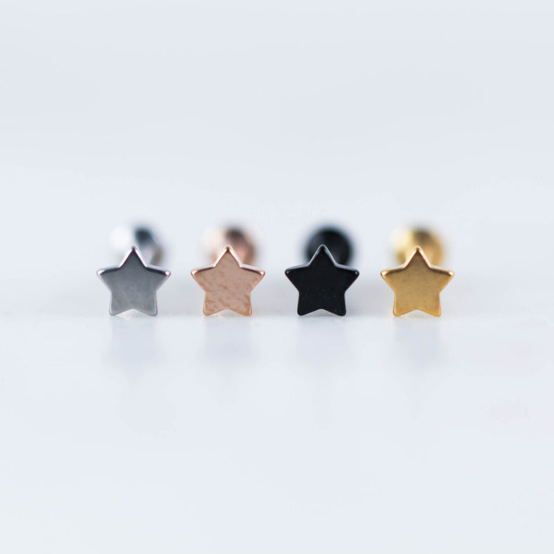 Star Labret Piercing Jewelry Body Jewelry Lip Piercing Star Tragus Stud Star Cartilage Stud Star Conch Piercing jewelry Star Conch Stud