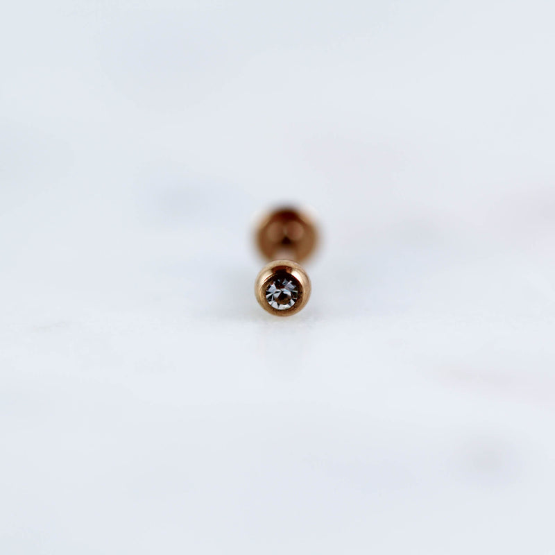 Rose Gold Labret Piercing jewelry labret Tragus Stud Cartilage Earring Conch Piercing Jewelry Rose Gold Body Jewelry