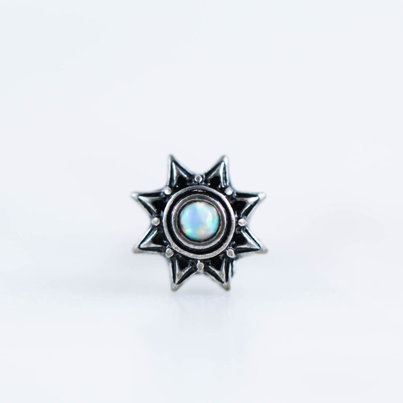 Opal Tribal Star Labret Cartilage Stud cartilage earring cartilage piercing jewelry tragus stud tragus earring tragus piercing jewelry conch stud conch piercing jewelry labret piercing jewelry bosy jewelry