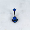 Titanium Intricate Opal Belly Ring