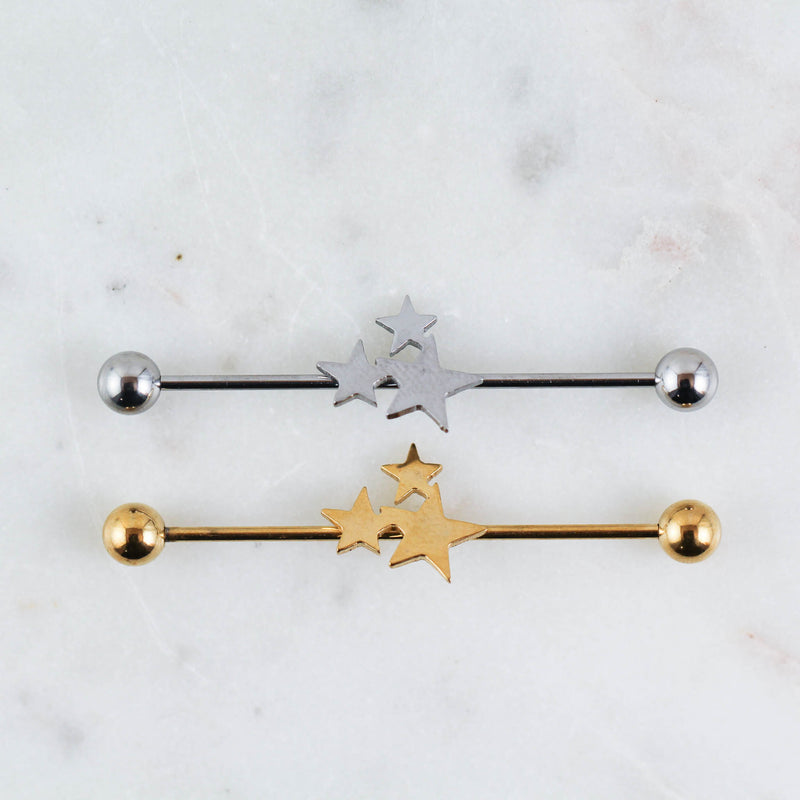 Star Cluster Industrial Piercing Jewelry