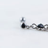 Black Beaded Chain Barbell