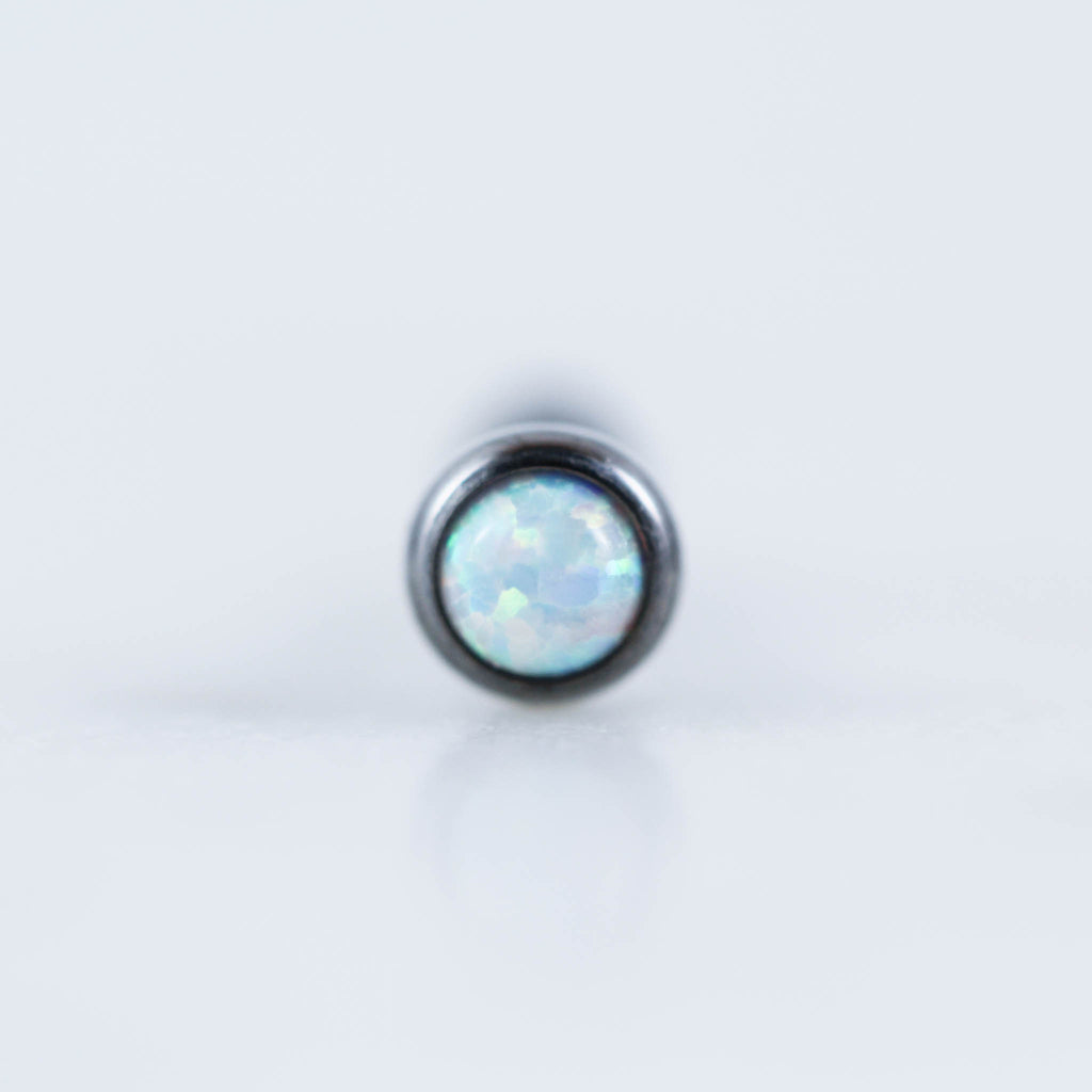 Titanium Opal Labret for Ear Piercings. Labret Stud.