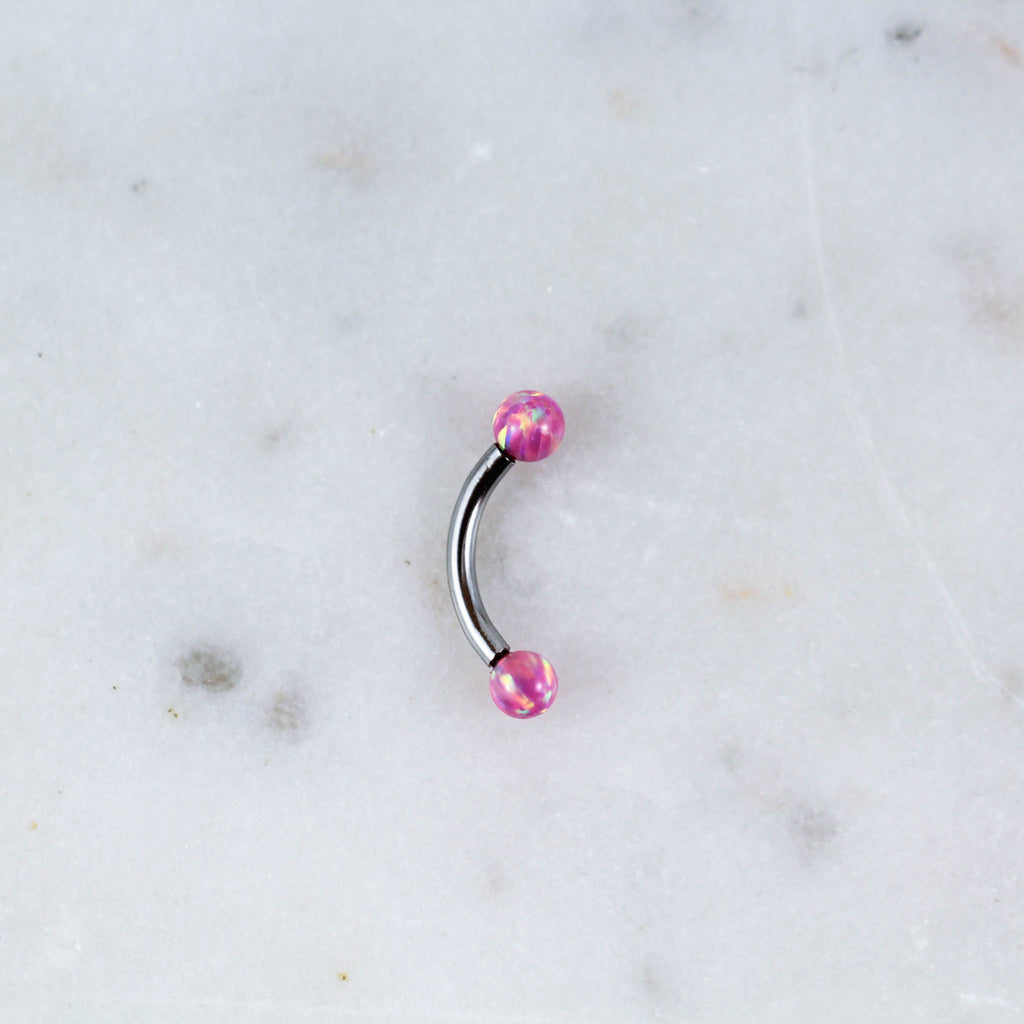 Opal Ball Curved Barbell