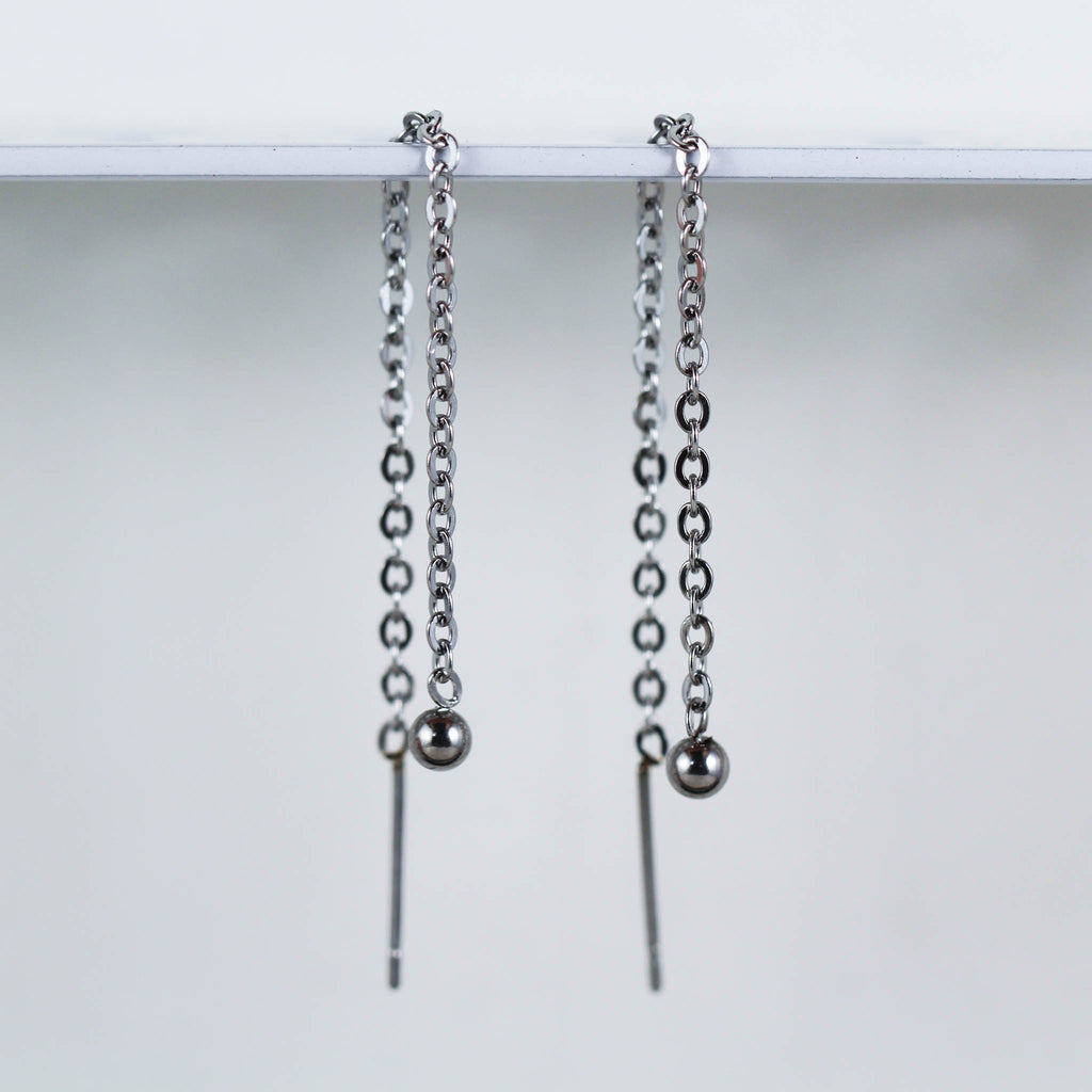 Ball Threader Earrings (Pair)