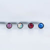 Opal Nose Ring Opal Nose Studs in Pink, White, Red, or Blue