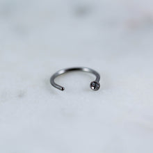 Gem nose hoop for nostril piercings piercing jewelry