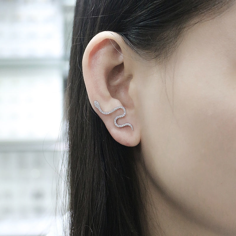 Crystal Snake Ear Climber (Pair)