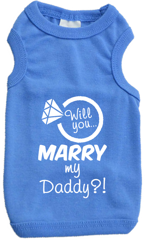 proposal wedding announcement dog shirt