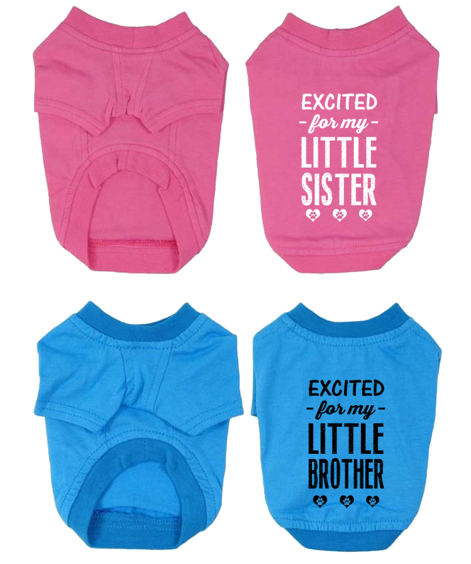 gender reveal dog shirts
