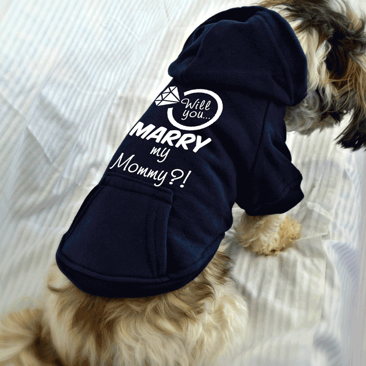 Will You Marry My Mommy Dog Sweatshirt. Wedding Proposal Idea.