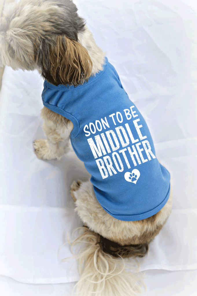Soon to be Middle Brother Dog Tank Top