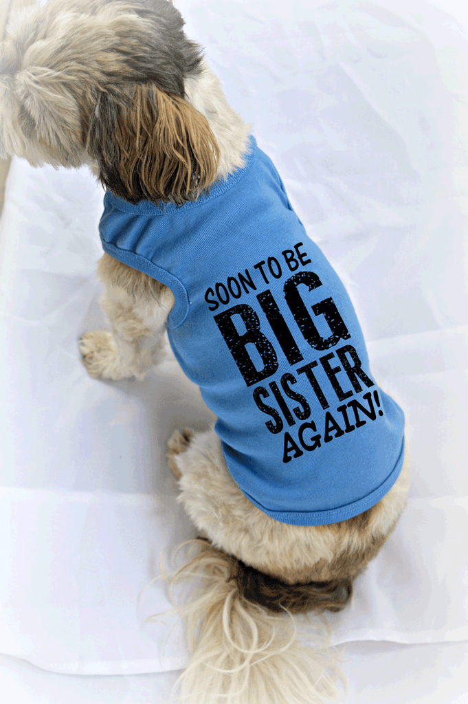 Soon to be Big Sister Again! Dog Tank Top