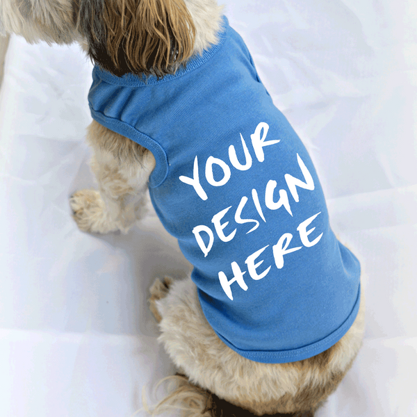 Smaller Breed Dog Tank Top with Custom Design or Logo