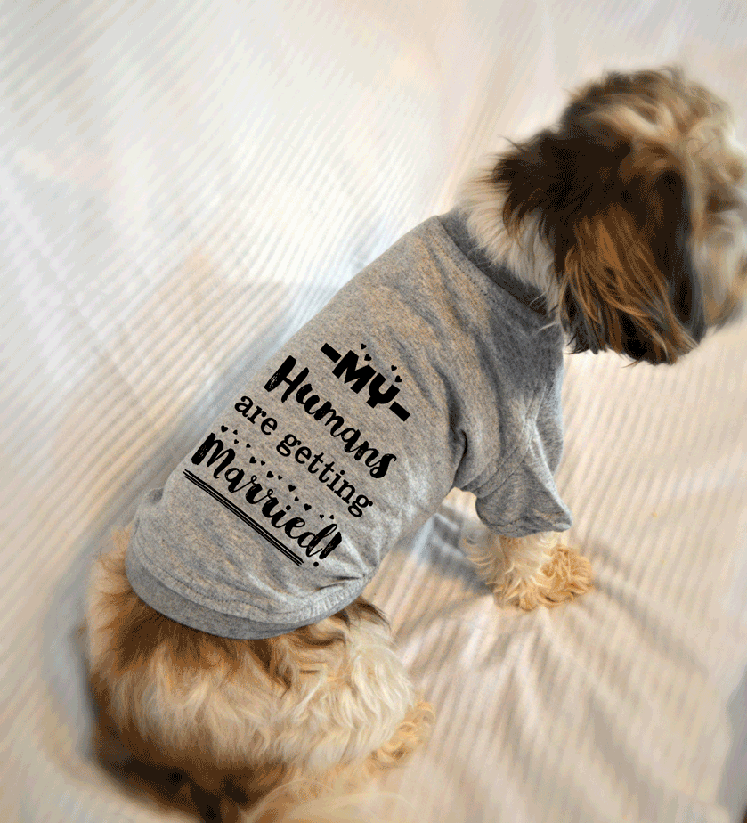 My Humans Are Getting Married Dog T-Shirt for Engagement Announcement