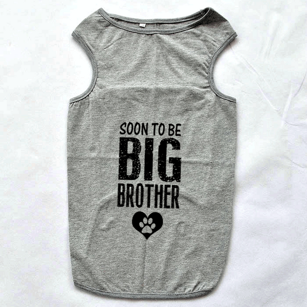 Soon To Be Big Brother Large Breed Dog Tank Top