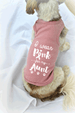 I Wear Pink for my Aunt Breast Cancer Awareness Dog Tank Top
