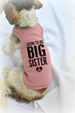Two Dog Tank Tops. Soon to be Big Sister & Big Brother Dog Shirts