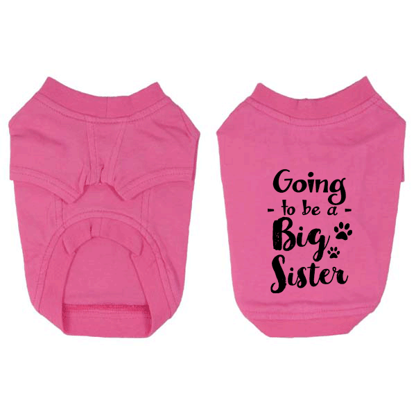 Going to be a Big Sister Dog T-Shirt Pregnancy Announcement