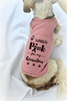 I Wear Pink for my Grandma Breast Cancer Awareness Dog Tank Top