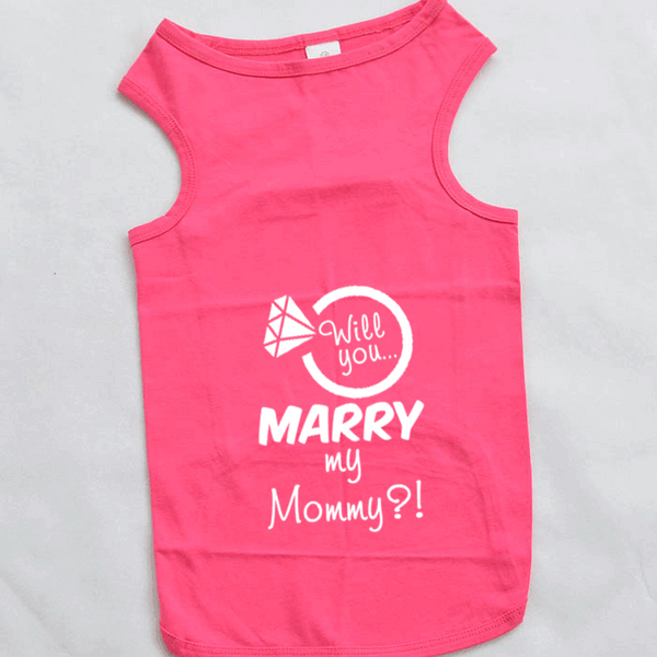 Will You Marry My Mommy Marriage Proposal Large Breed Dog Tank Top