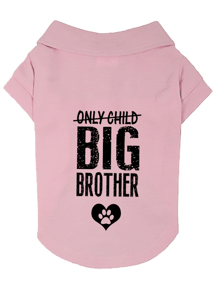 Only Child Big Brother Small Dog Polo Shirt