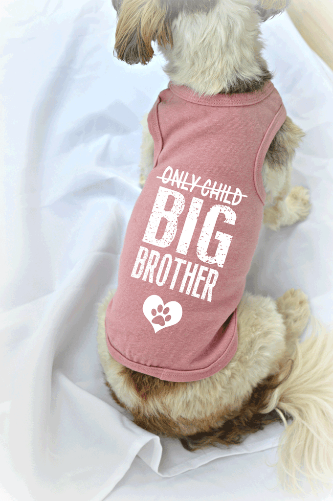 Only Child Big Brother Small Dog Tank Top