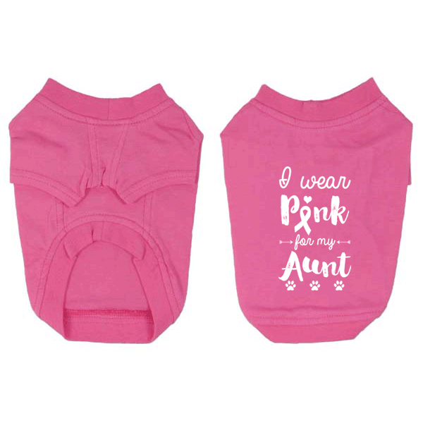 I Wear Pink for my Aunt Small Dog T-Shirt