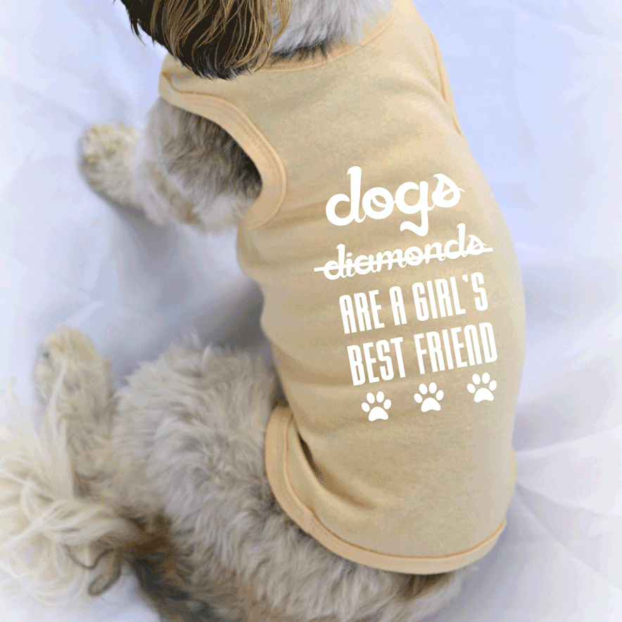 Dogs are a Girl's Best Friend Small Pet Dog Tank Top