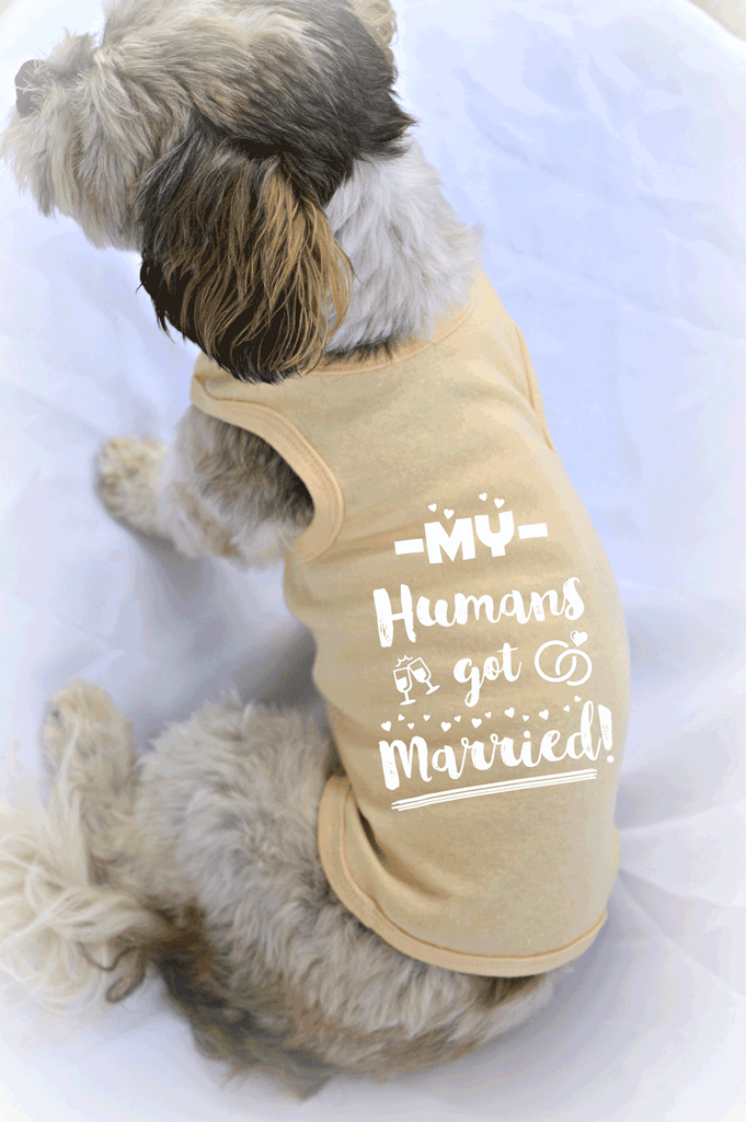 My Humans Got Married Dog Tank Top for Wedding Ceremony