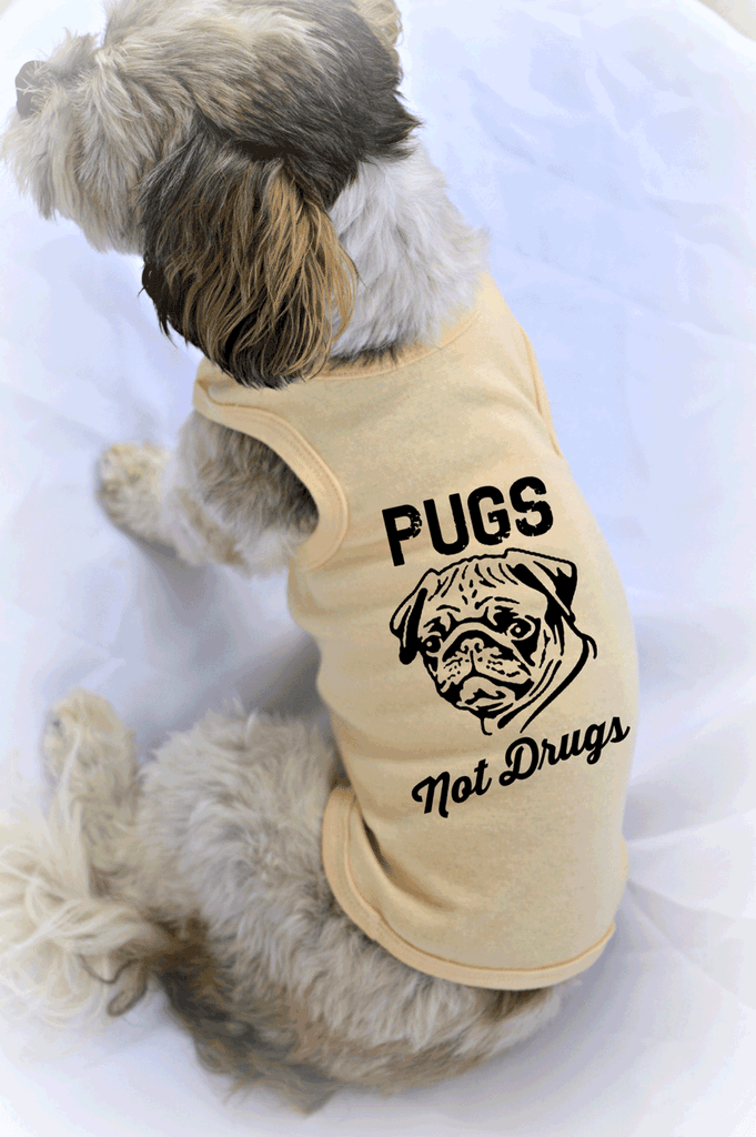 Pugs Not Drugs Small Dog Tank Top