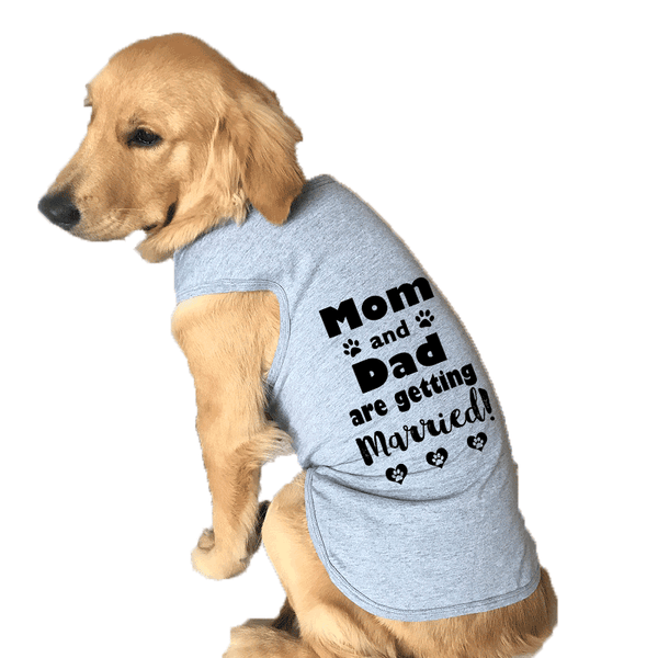 Mom and Dad are Getting Married Large Dog Tank Top