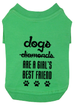 Dogs (not diamonds) are a Girl's Best Friend Small Breed Dog T-Shirt
