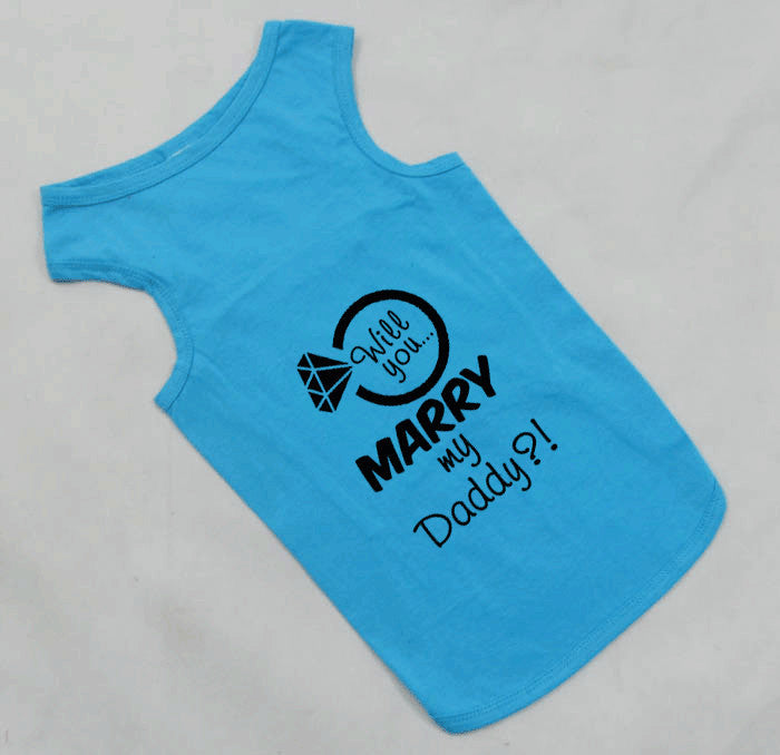 Will You Marry My Daddy Marriage Proposal Large Breed Dog Tank Top