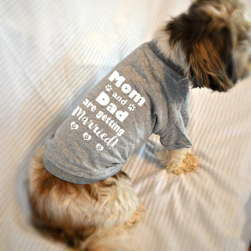 Mom and Dad Are Getting Married Dog T-Shirt