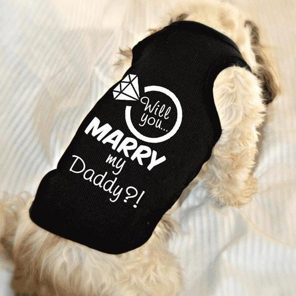 Will You Marry My Daddy Dog Tank Top